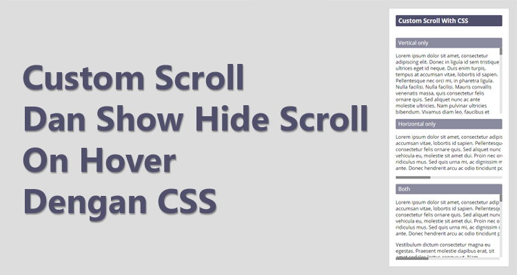 Custom Scroll Bar Dan Show Hide Scroll On Hover