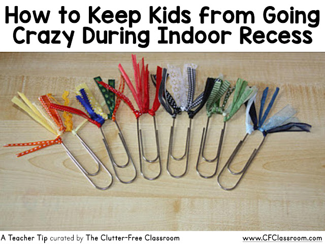 Are you wondering how to keep kids from going crazy during indoor recess? This classroom activity tip will be helpful to elementary teachers.