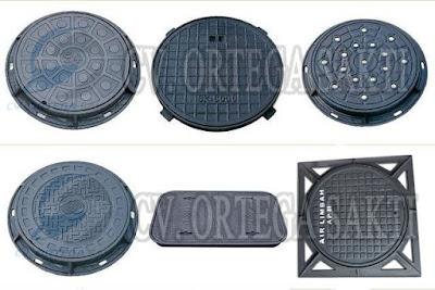 manhole cover cast iron / manhole cover besi cor