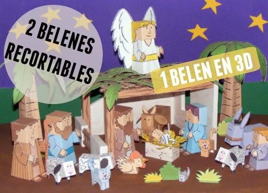 belén, belenes, construir, plantillas, Navidad, 3D, fiestas
