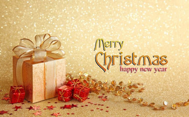 Merry Christmas Happy New Year Wishes Greeting for Cards