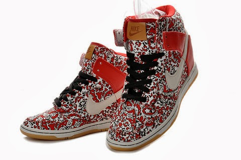 9249a6756e1b Sports Wedge Shoes  Beauty Nike SB Dunk Sky High Red Libery Pattern ...