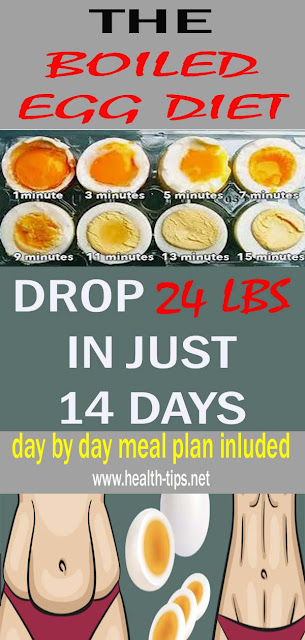 The Boiled Egg Diet – Lose 24 Pounds In Just 2 Weeks#NATURALREMEDIES