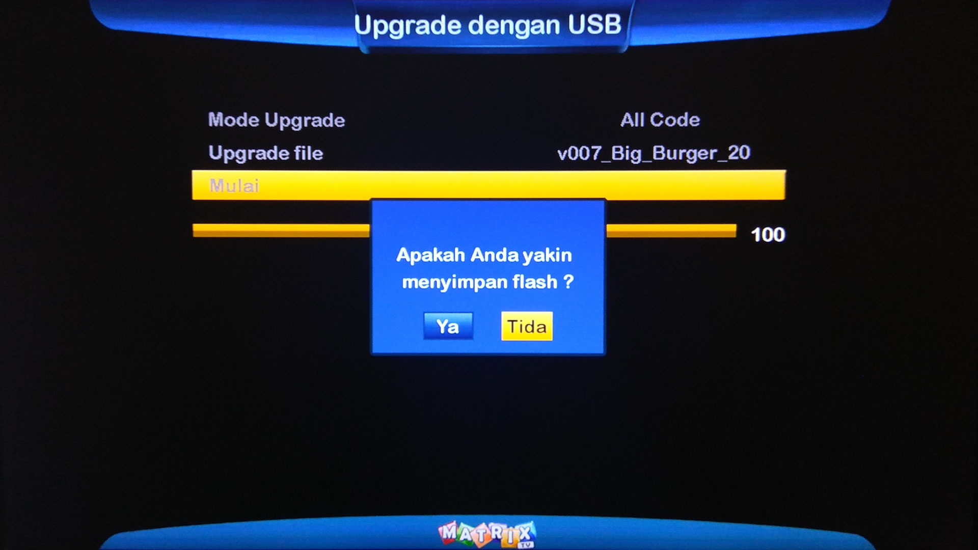 Cara Upgrade Receiver Matrix Big Burger 8MB