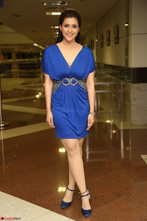 Mannara Chopra in Short Blue Dress at Rogue Movie Teaser Launch 1st March 2017 059.JPG