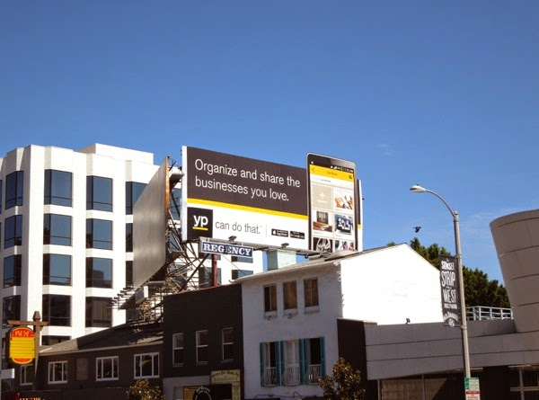 Organize share businesses YP billboard