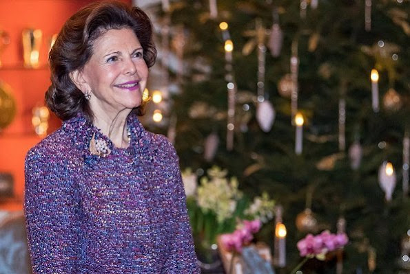 Queen Silvia's 75th birthday ceremony. The birthday reception took place in Princess Sibylla's Apartment