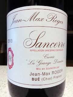 Jean-Max Roger Cuvée La Grange Dîmière Sancerre Rouge 2013 (89 pts)