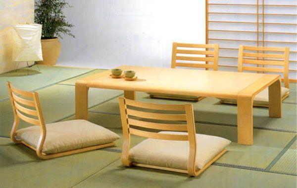 Hogares frescos comedor japon s muebles de sala con un for Muebles de estilo minimalista