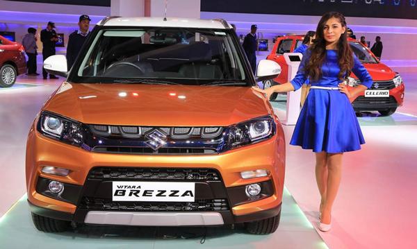 Suzuki Vitara Brezza di India Auto Expo 2016