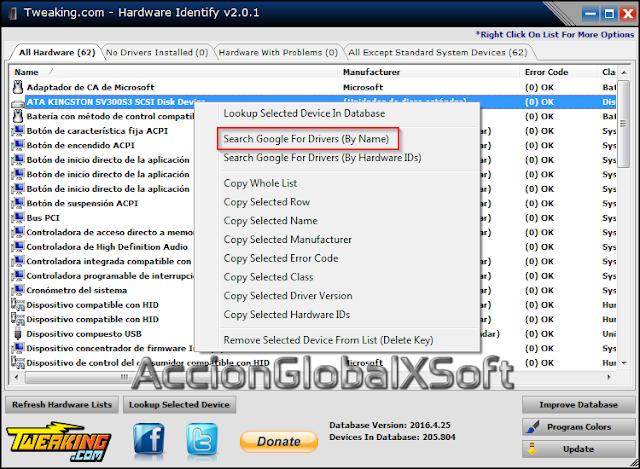 Hardware Identify v2.0.1 Portable [Localiza e identifica hardware y driver correspondiente]