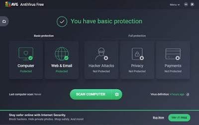 برنامج AVG Free Antivirus