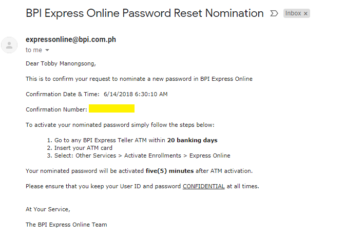 BLOCKED from your BPI Express Account? Here is the solution