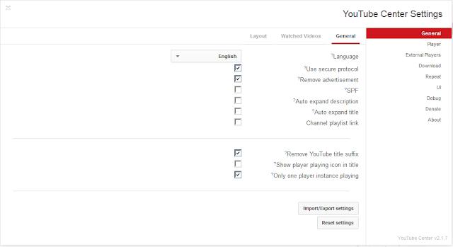 تسريع تحميل الفيديوهات على يوتيوب مع تحكم كامل في طريقة العرض مع إضافة Youtube Center