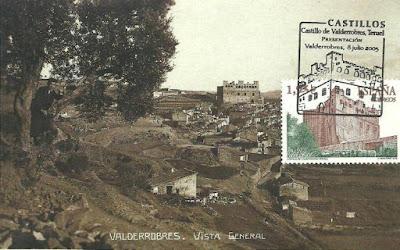 Castillo de Valderrobres, sello, postal