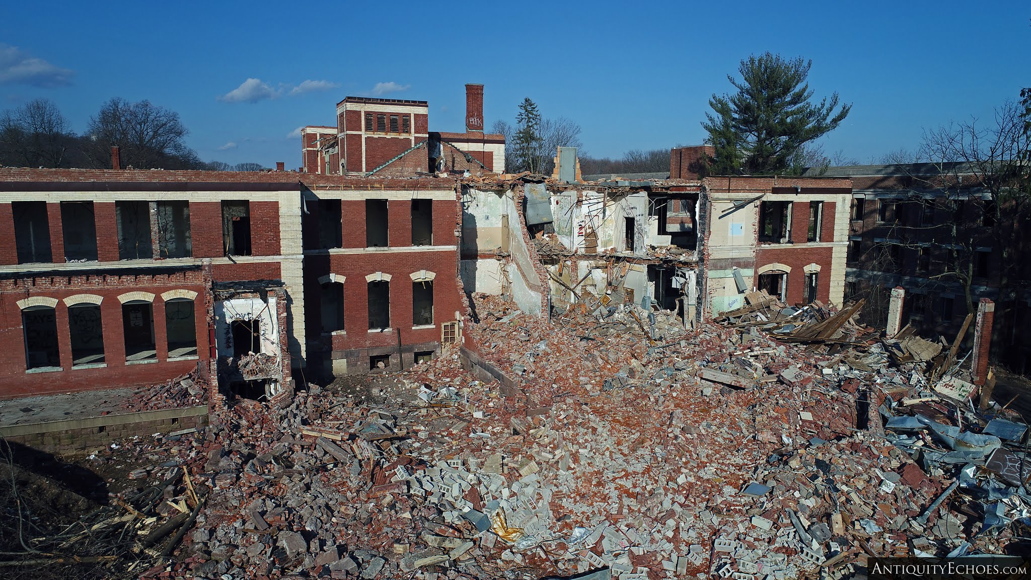 Overbrook Asylum - A Spilled Sea of Bricks
