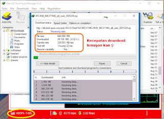contoh hasil download modem setelah dimodifikasi