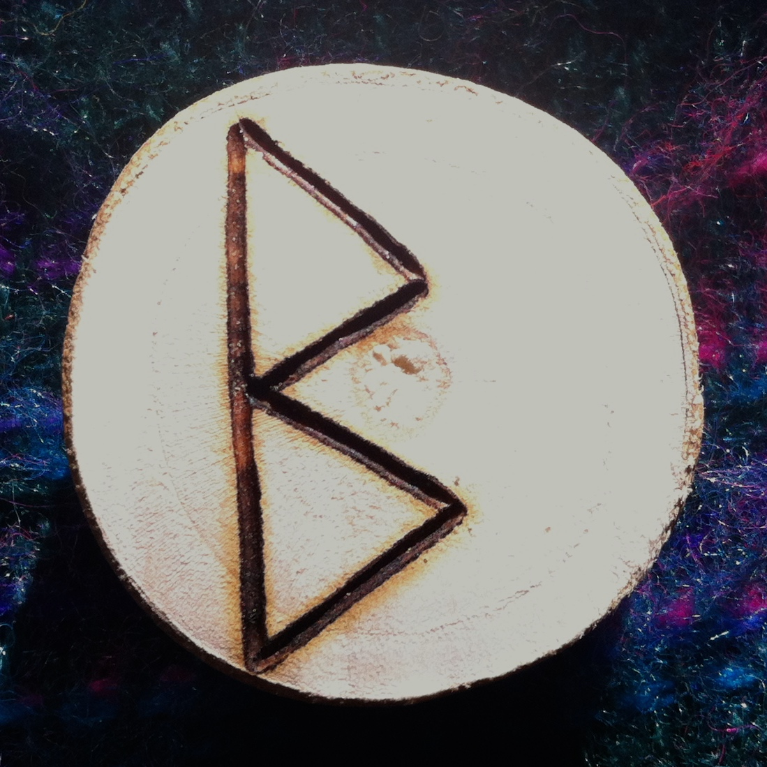 Berkana rune reversed