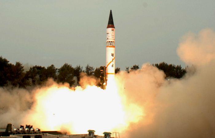 Rudal balistik Agni-V India