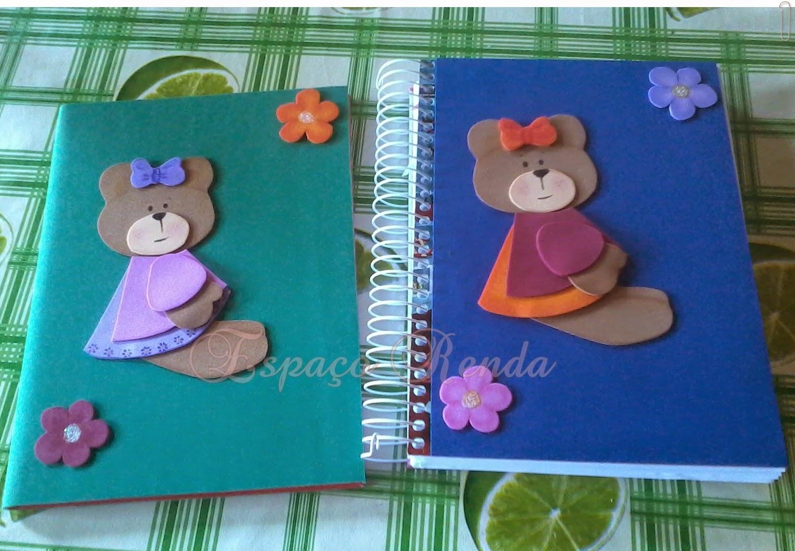 Capas para caderno em EVA