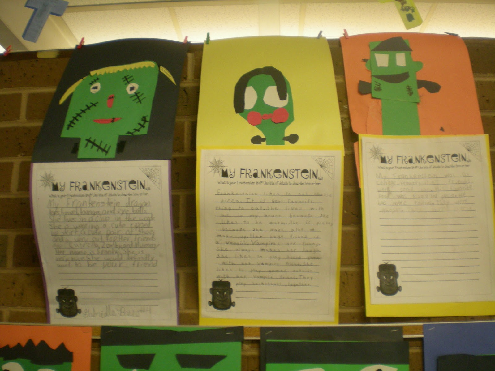 third grade love ~~frankenstein writing bies~~