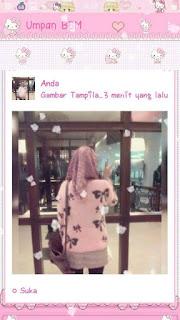 Download BBM MOD Pink Kitty Ribbon Cute Terbaru