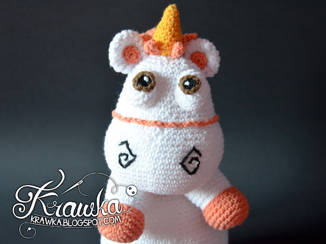 Krawka: Pink Fluffy Unicorn crochet pattern by Krawka