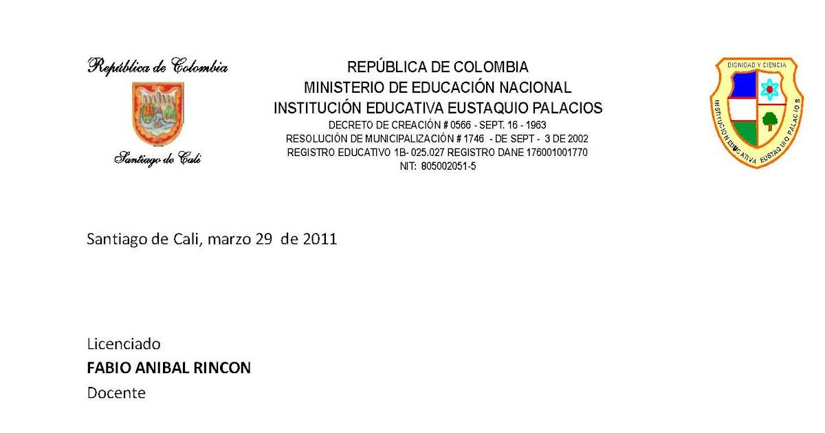 PREGON EUSTAQUIANO: ACEPTACIÓN DE RENUNCIA DE FABIO A. RINCÓN COMO ...