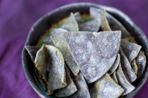 Blue Corn tortillas chips