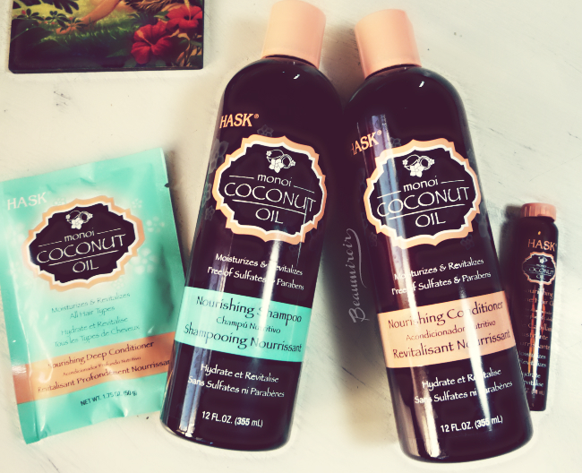 Review: Hask Coconut Oil Hair Care Collection - shampoo, conditioner, deep conditioner and shine treatment oil