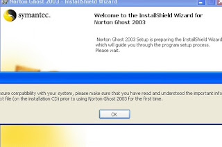 welcome to the installsheld wizard for norton ghost 2003