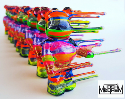 Blown Away 100% Bearbrick Custom Series 1 by Josh Mayhem