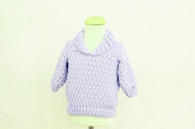 3 - Majovel Crochet Imagen Jersey azul con punto elastico a crochet y ganchillo