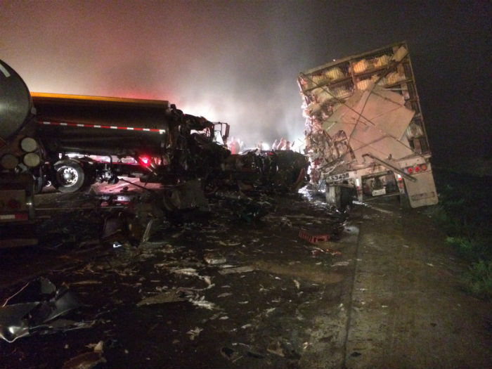 highway 41 fresno county foster farms poultry truck crash one killed