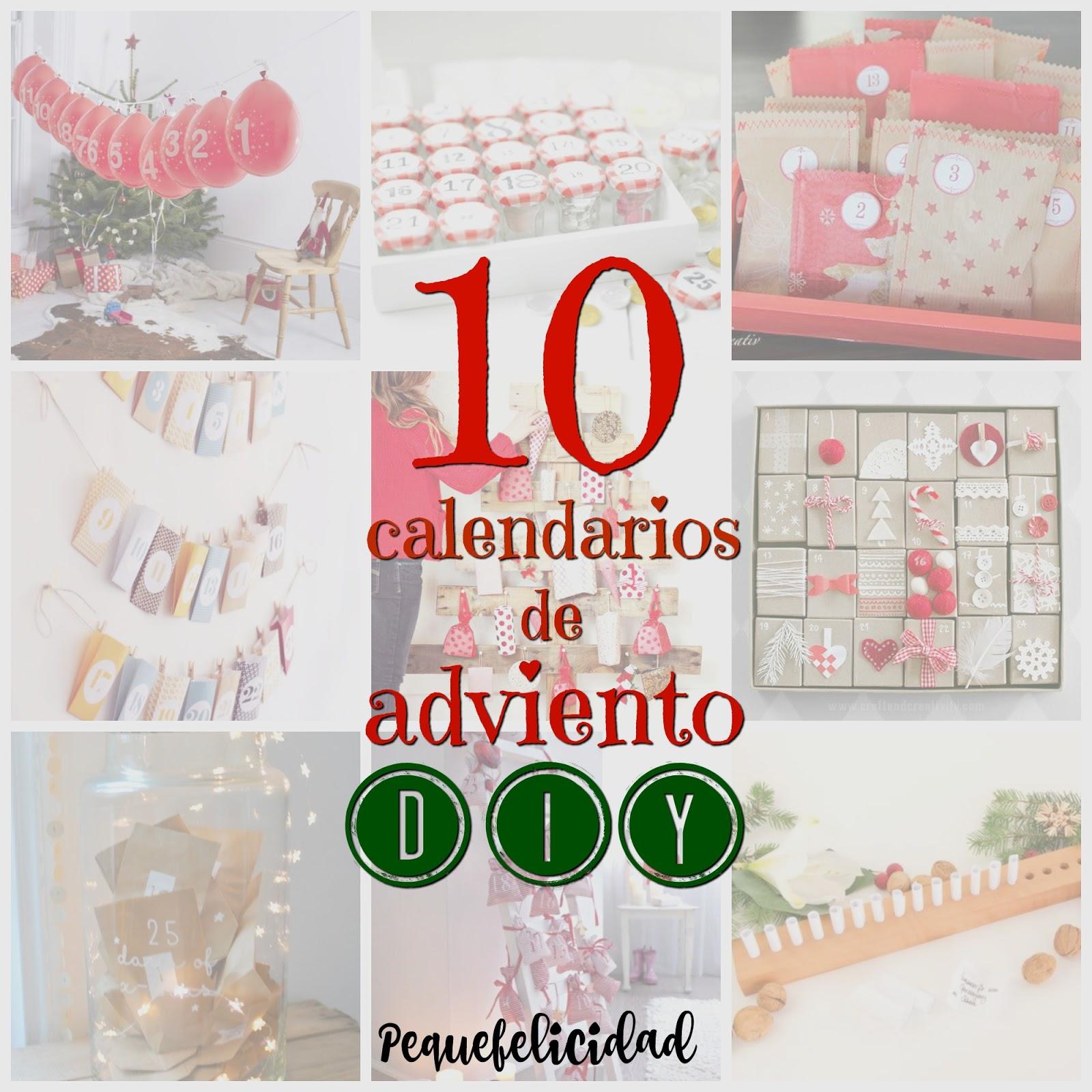 Pequefelicidad 10 calendarios de adviento diy - Calendario de adviento diy ...