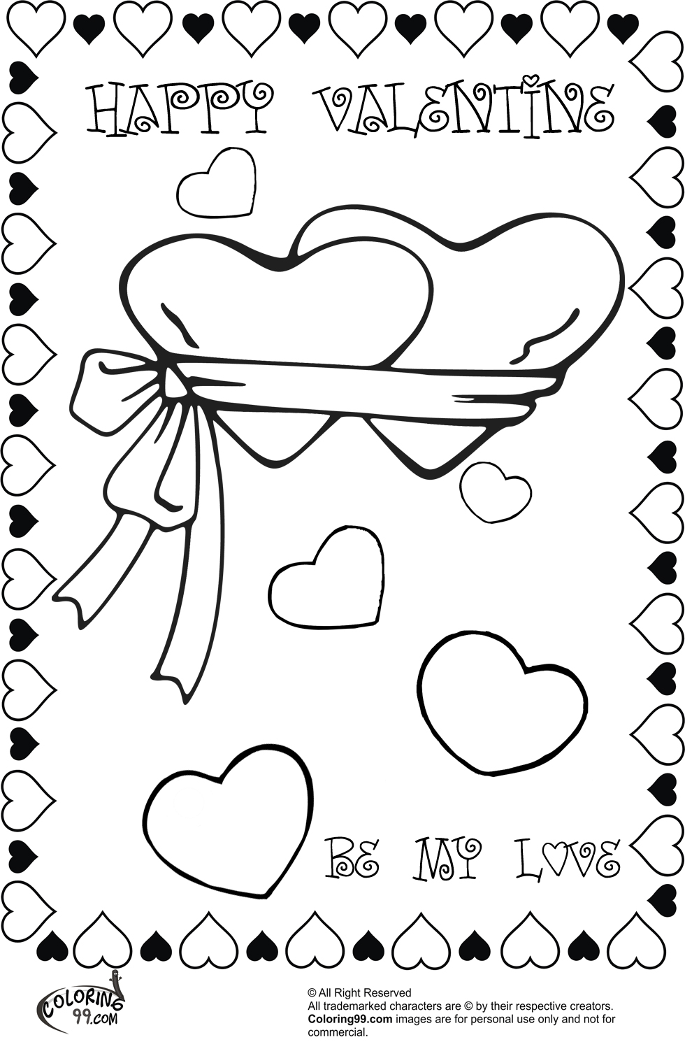 valentine heart coloring pages free - photo#48