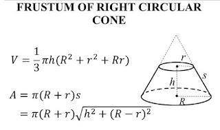 Công thức tính thể tích hình cụt của hình nón tròn đứng