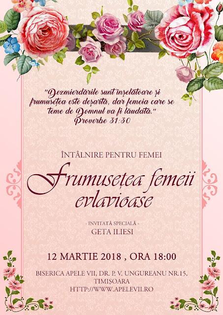 Întâlnire de Femei cu Geta Iliesi la Biserica Apele Vii Timisoara