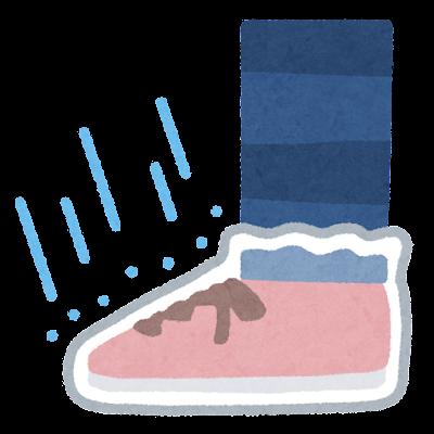 靴用カッパのイラスト