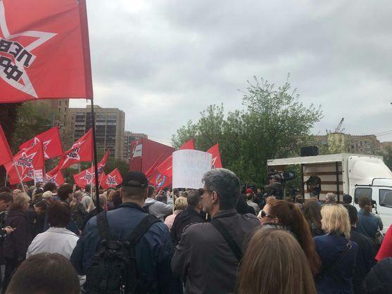 У Москві знову збирається мітинг проти інавгурації Путіна
