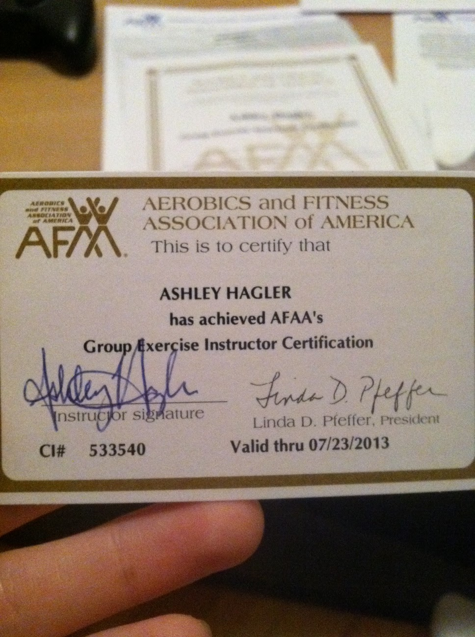 fitness certification afaa instructor