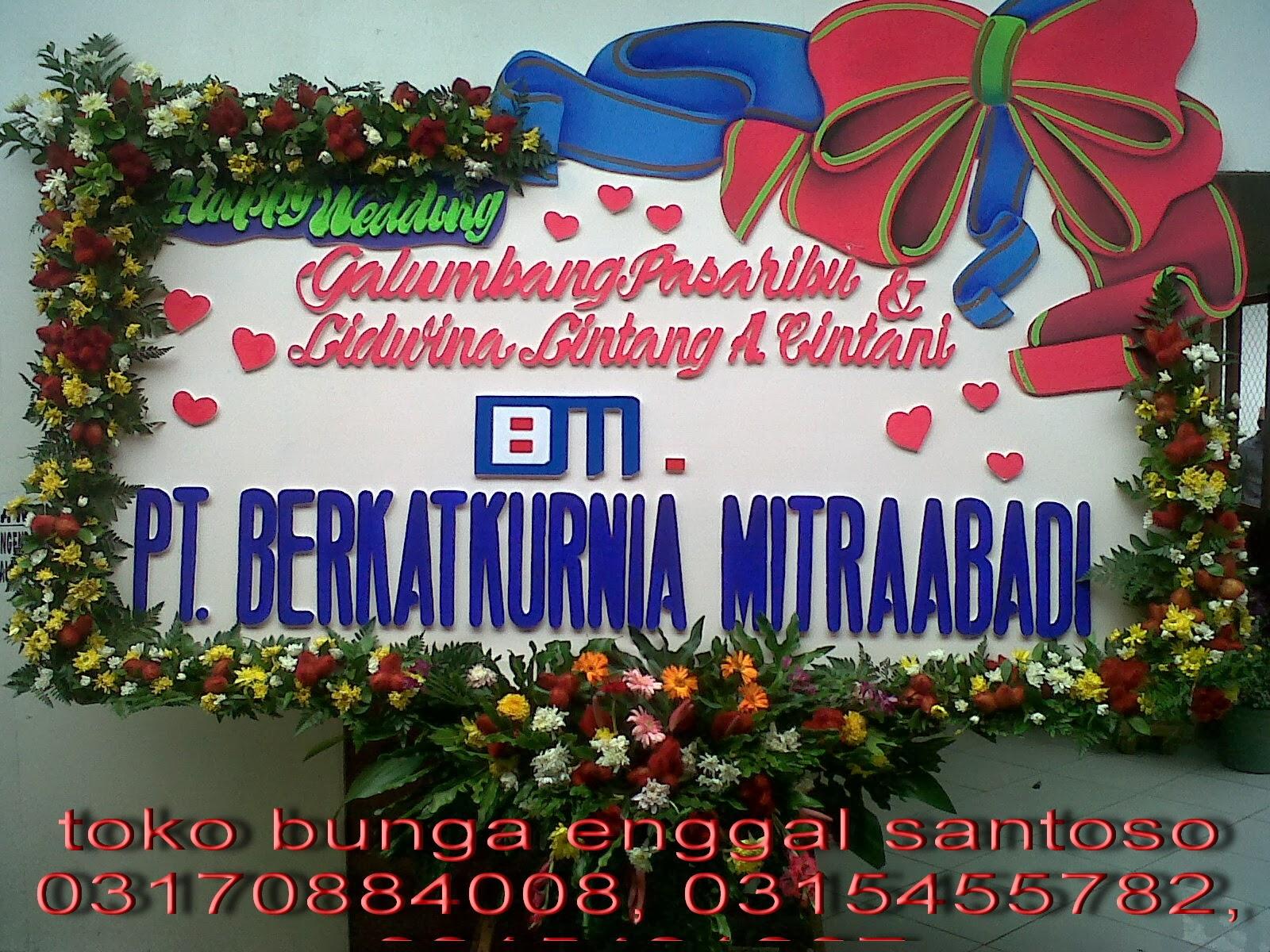 karangan bunga papan ucapan pernikahan