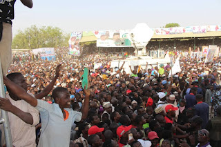 Pictures from President Buhari Rally in Adamawa State.