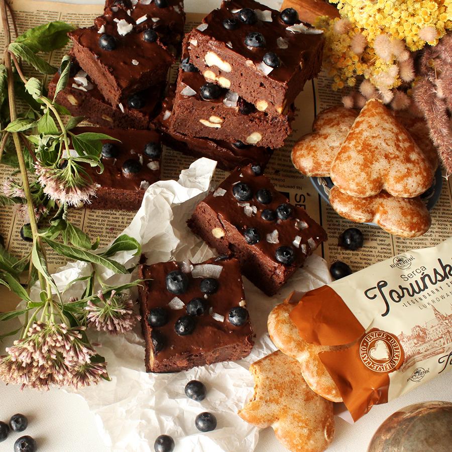 Brownie piernikowe.