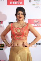 Harshika Ponnacha in orange blouuse brown skirt at Mirchi Music Awards South 2017 ~  Exclusive Celebrities Galleries 032.JPG