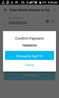click on the proceed to pay option