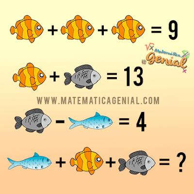 Desafio dos Peixes - Quanto vale o peixe amarelo, cinza e azul?