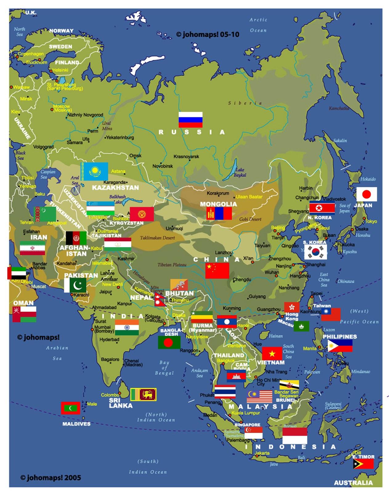 Ásia | Mapas Geográficos da Ásia