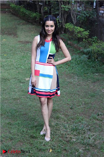 Bollywood Actress Shraddha Kapoor Latest Stills in Colourful Short Dress at OK JAANU Movie Press Conference  0006.jpg