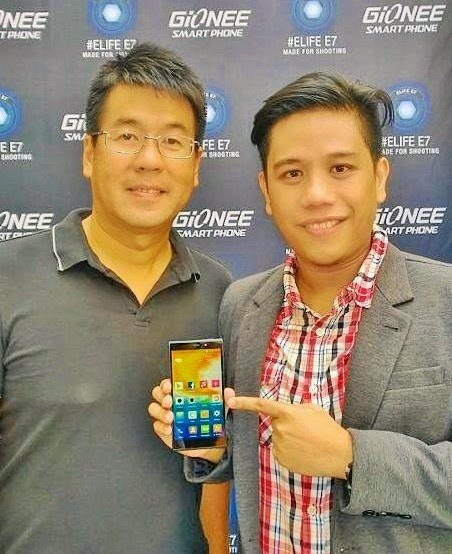 Gionee Elife E7, Gionee Elife E7 Philippines, Michael Bangayan